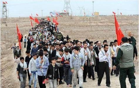 اعزام دانشآموزان اصلاندوز به مناطق عملیاتی شمالغرب کشور