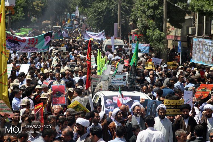 راهپیمایی روز جهانی قدس در کرمانشاه برگزار شد