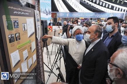 بازدید وزیر ورزش از نمایشگاه چهل سالگی دفاع مقدس