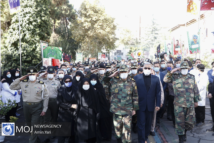 تشییع پیکر شهید مدافع سلامت ابوالفضل محمدی