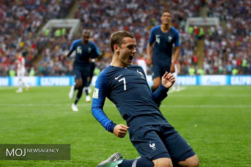 نتیجه نیمه اول بازی فرانسه کرواسی