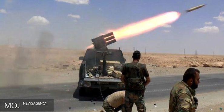 ارتش سوریه از زمین وهوا مواضع تروریست ها را هدف قرار داد