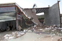 تخریب سه باب مغازه در سنندج