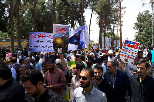 امروز حضور پرشور مردم همدان در راهپیمایی روز قدس رقم خورد
