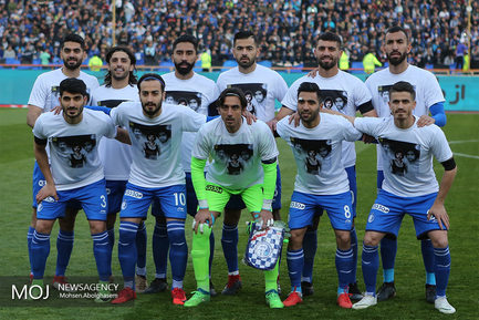 دیدار تیم های فوتبال استقلال تهران و پدیده مشهد/عکس تیمی استقلال