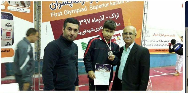 جایگاه ششمی گیلان در رقابت های کاراته المپیاد استعداد های برتر ورزشی کشور