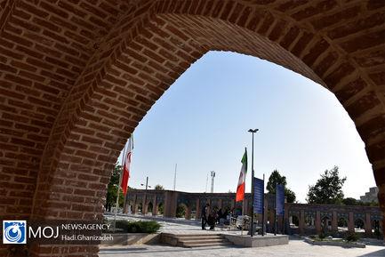 غبار روبی مزار شهدا در اردبیل