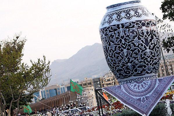 زیباسازی شهر اصفهان با المان های  صنایع دستی در نوروز 99