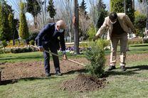 کاشت نهال توسط مدیرعامل بانک کشاورزی به مناسبت روز درختکاری و هفته منابع طبیعی