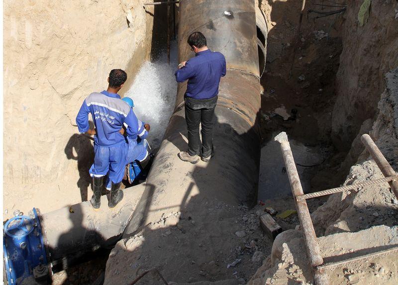 قطعی آب آشامیدنی شهر میناب به علت ترمیم شبکه