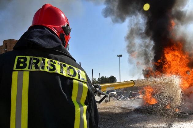 نمایش حریق برای شهدای آتشنشان پخش می شود
